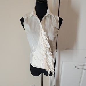 SAO PAULO Very unique white sleeveless shirt